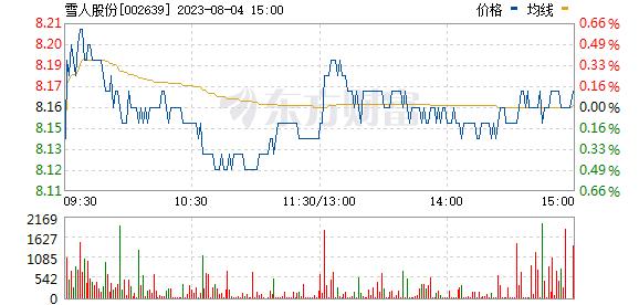 雪人股份(002639)