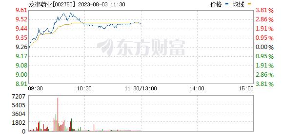 龙津药业(002750)