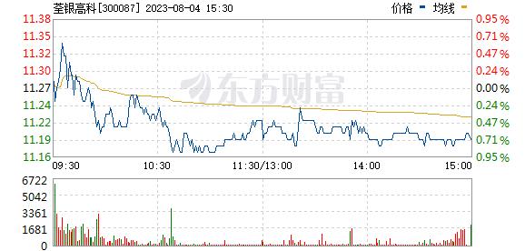 荃银高科(300087)