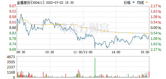 金盾股份(300411)