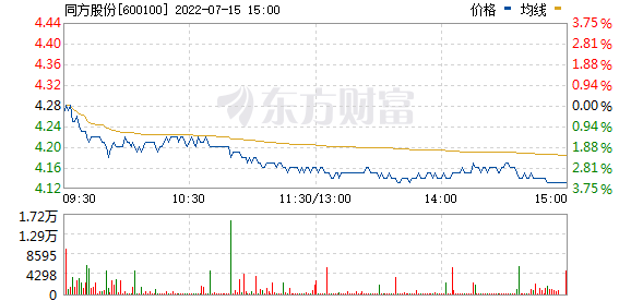同方股份(600100)