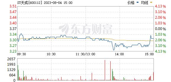 天成控股(600112)