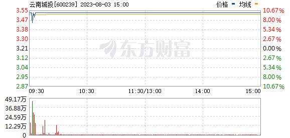 云南城投(600239)