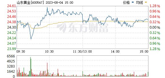 山东黄金(600547)