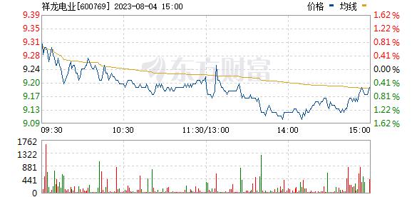 祥龙电业(600769)