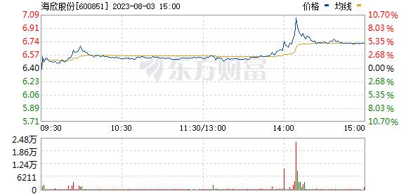 海欣股份(600851)