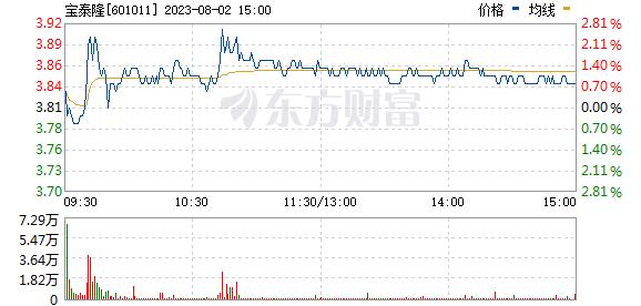 宝泰隆(601011)