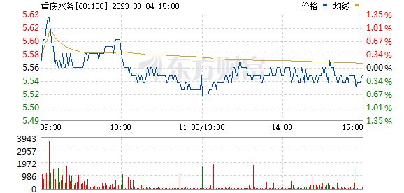重庆水务(601158)
