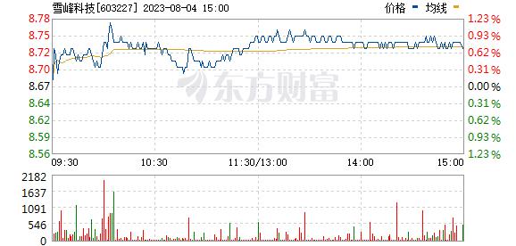 雪峰科技(603227)