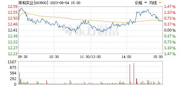 祥和实业(603500)