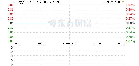 海航投资(000616)