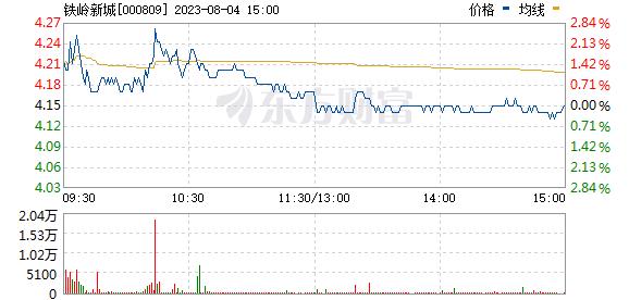 铁岭新城(000809)