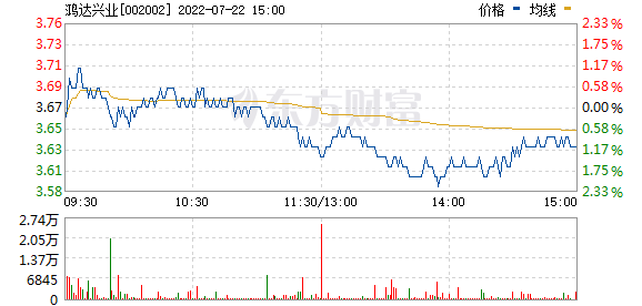 鸿达兴业(002002)