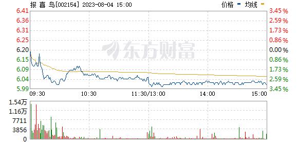 报 喜 鸟(002154)