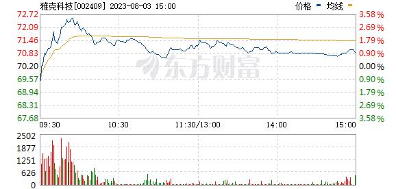 雅克科技(002409)