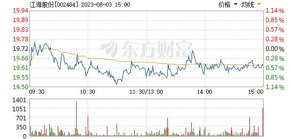 江海股份(002484)