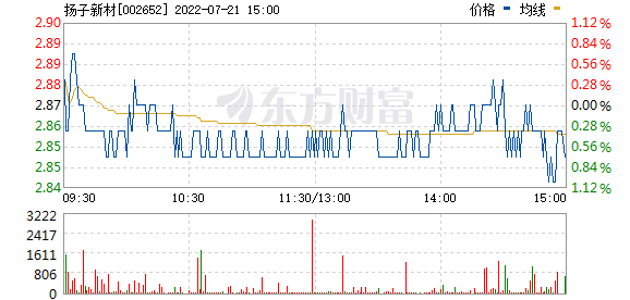 扬子新材(002652)
