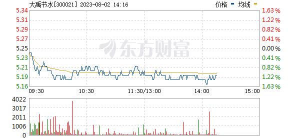 大禹节水(300021)