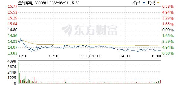 金利华电(300069)