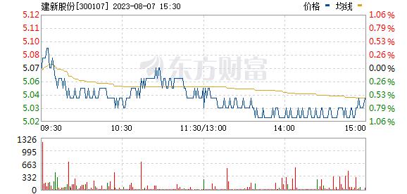 建新股份(300107)