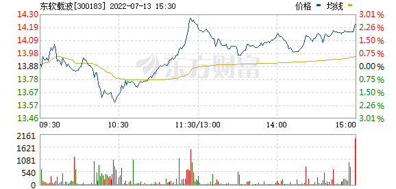 东软载波(300183)