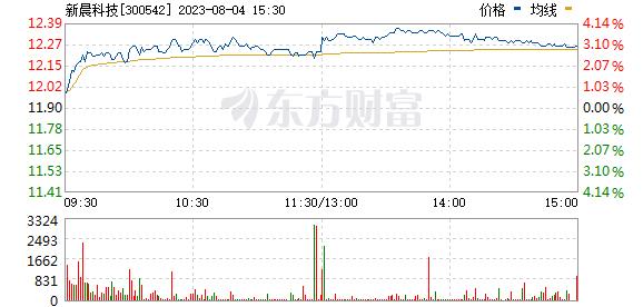 新晨科技(300542)