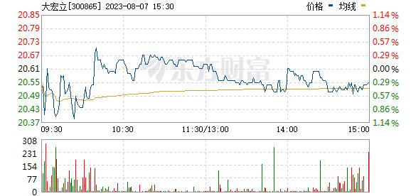 大宏立(300865)