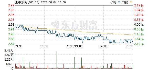 国中水务(600187)
