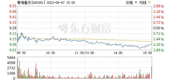 青海春天(600381)实时行情