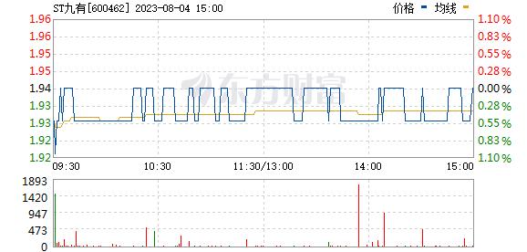 *ST九有(600462)