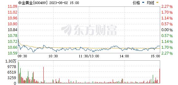 中金黄金(600489)