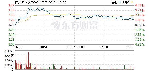 绿地控股(600606)