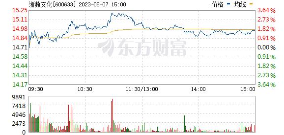浙数文化(600633)