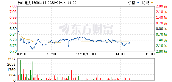 乐山电力(600644)