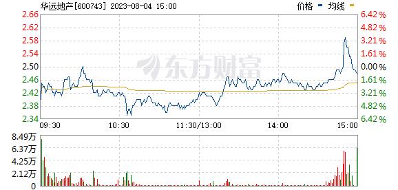华远地产(600743)