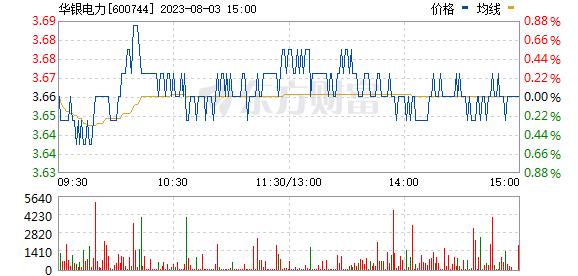华银电力(600744)