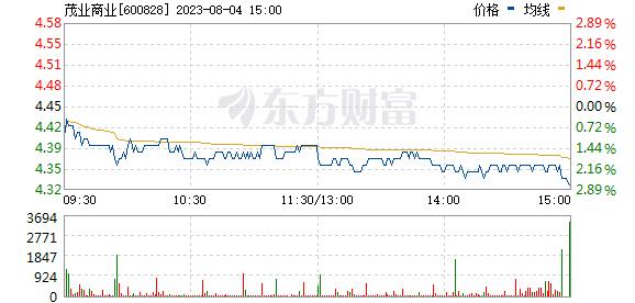 茂业商业(600828)