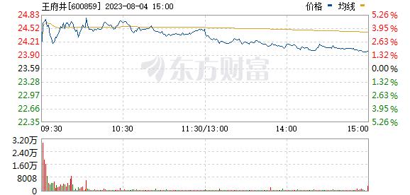 王府井(600859)
