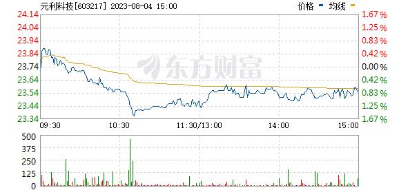 元利科技(603217)