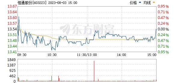 恒通股份(603223)