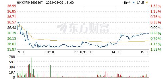 新化股份(603867)
