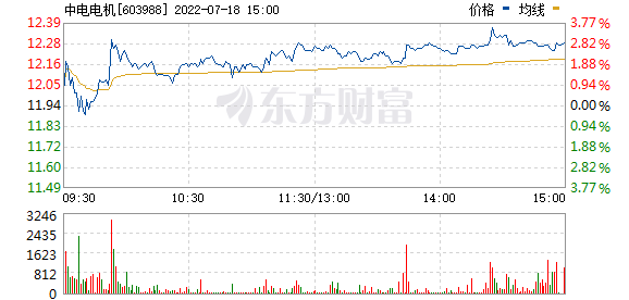 中电电机(603988)