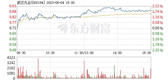 武汉凡谷7月19日盘中涨幅达5%