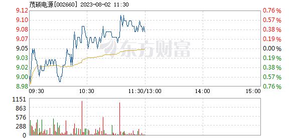 茂硕电源6月18日快速上涨
