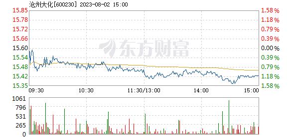 沧州大化3月8日快速上涨