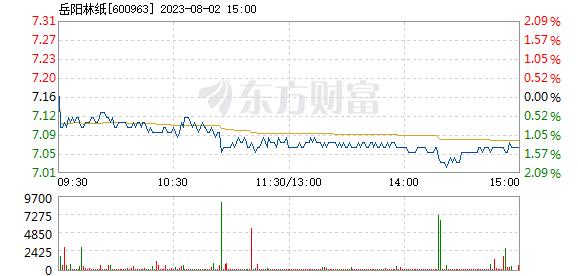 岳阳林纸3月9日快速反弹