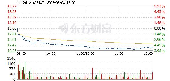 丽岛新材7月6日盘中涨停