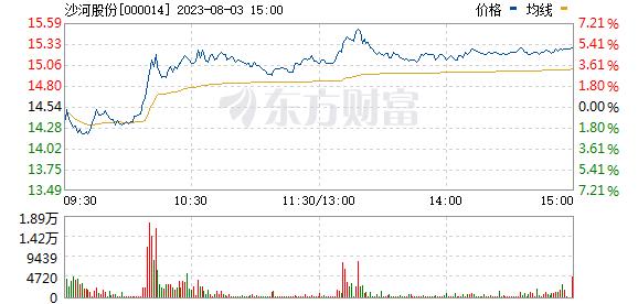 沙河股份(000014)