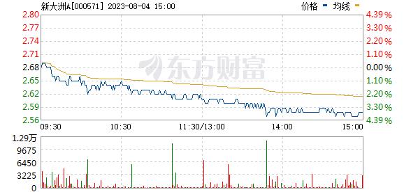 新大洲A(000571)