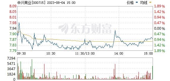 中兴商业(000715)